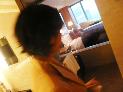 シャングリラホテル東京の玄関にて・・・