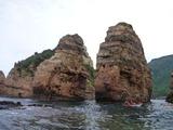 6岩の間を漕ぐ
