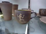 人絵スープカップ
