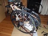 遠征用に準備した自転車