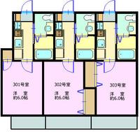 夏見3丁目アパート 3階 間取り図2