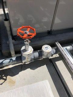 補給水槽側バルブ