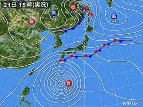 21日の天気図