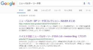 グーグル検索結果(ニューパル リーチ目)