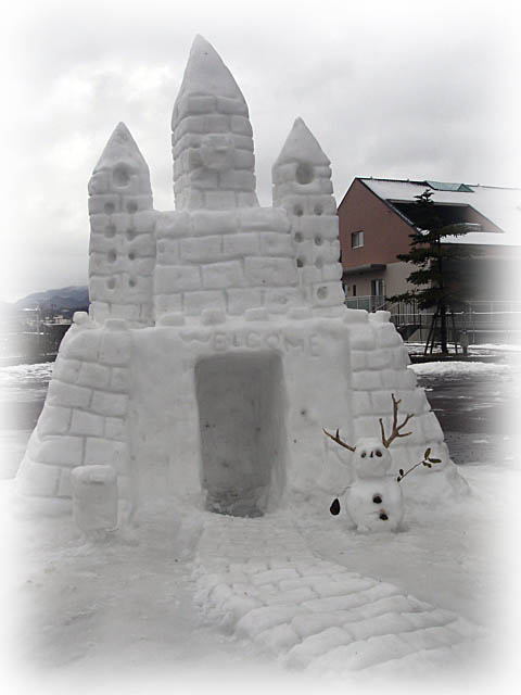 ステキな雪の城