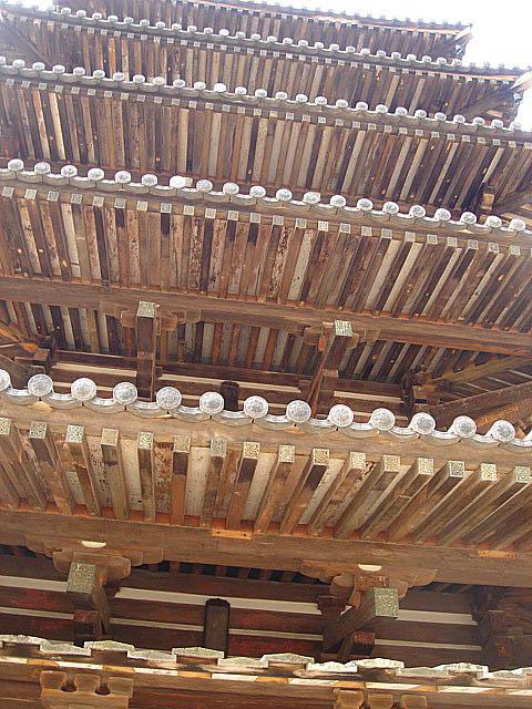 法隆寺 五重塔 裏側