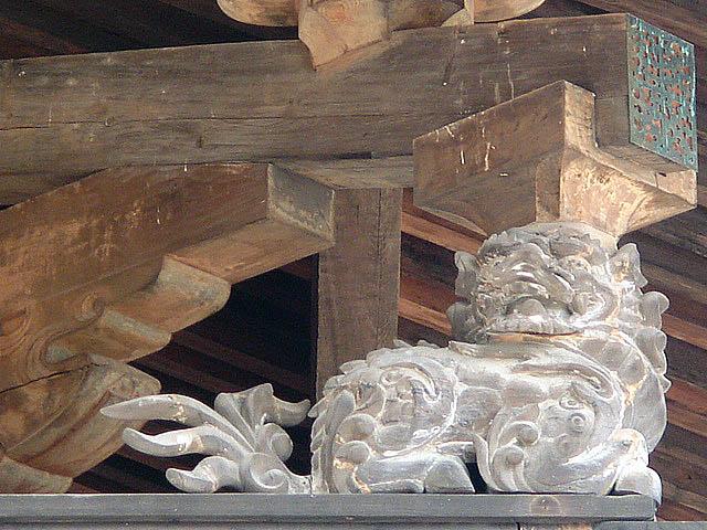 法隆寺 金堂の獅子1