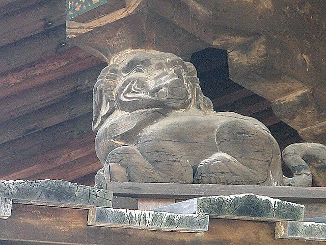 法隆寺 金堂の獅子2