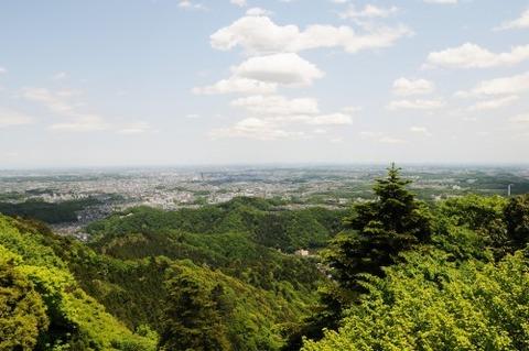 高尾山からのパノラマ(都心方面)1