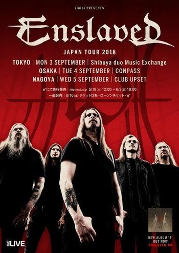 enslaved japan tour 2018