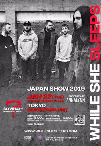 while she sleeps japan show 2019