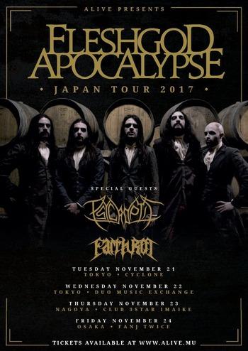 fleshgod apocalypse psycroptic japan tour 2017