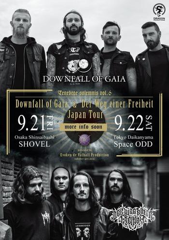 downfall of gaia der weg einer freiheit japan tour 2018