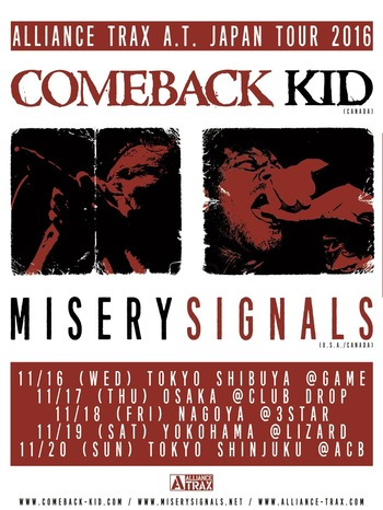 comeback kid misery signals japan tour 2016