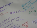 日本語のメッセージもあった。(私が書いたものではない。)