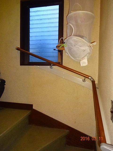 ②-2階段木製連続手すり取付