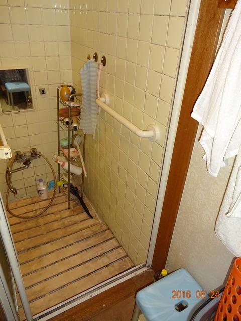 ③浴室樹脂製I型ヨコ手すり取付け2