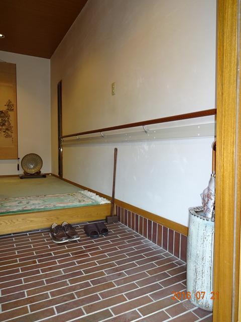 ①玄関木製I型ヨコ手すり取付け2