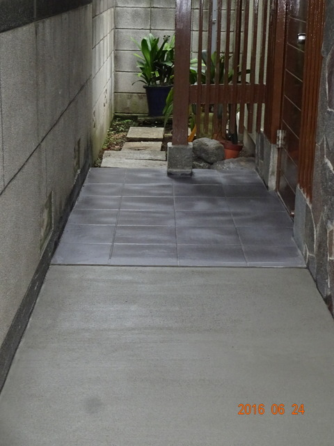 ②段差軽減:コンクリート打設工事(床面嵩上げ)2