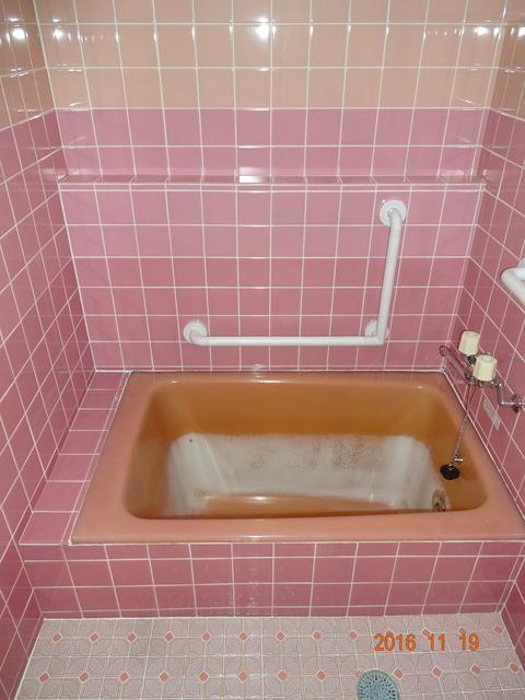 ②浴室手すり取付け
