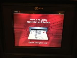 ICチップカード利用不可