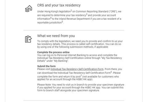 HSBC CRS 2