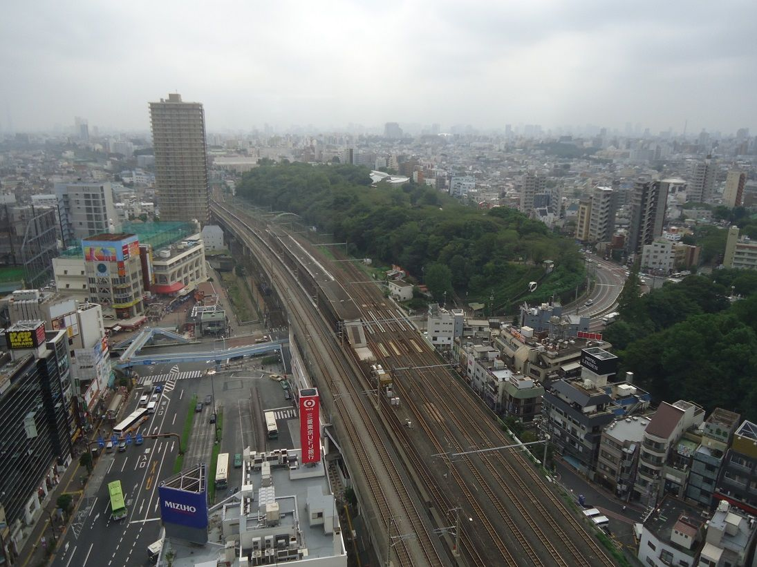 北とぴあ17階展望室より東京方面