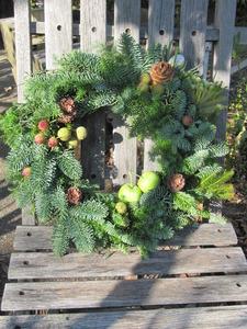 クリスマスリース2012オレゴンモミ 048