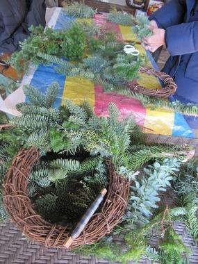 クリスマスリース2012オレゴンモミ 030