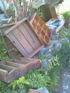 古道具市木箱
