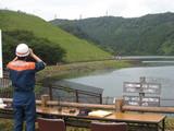 訓練会場の城山湖