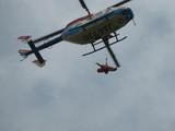 ヘリコプターに収容する訓練