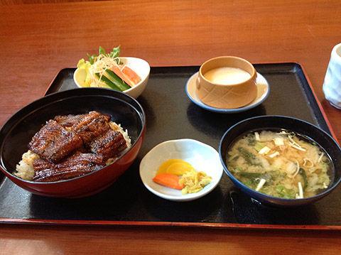 天然の鰻丼定食 : ロシア・ウク...