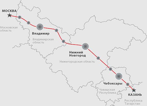 モスクワ~カザン高速鉄道建設の...