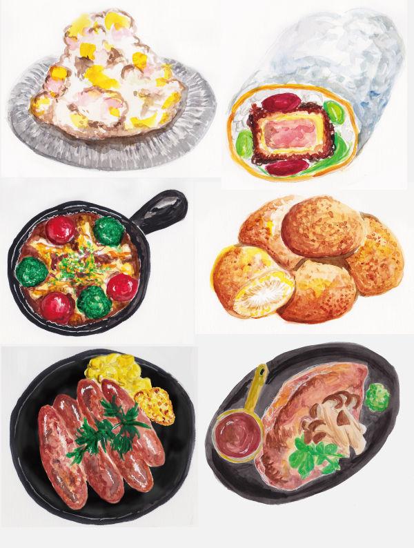 料理イラスト_デリシャスデザイン2