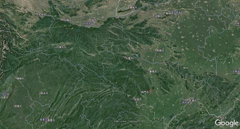 洛陽~荊門~四川省の位置関係 久良岐のよし
