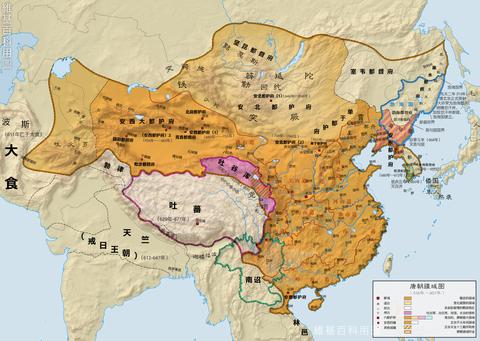 唐時代の版図