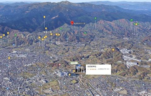 高部屋神社本宮の位置 久良岐のよし