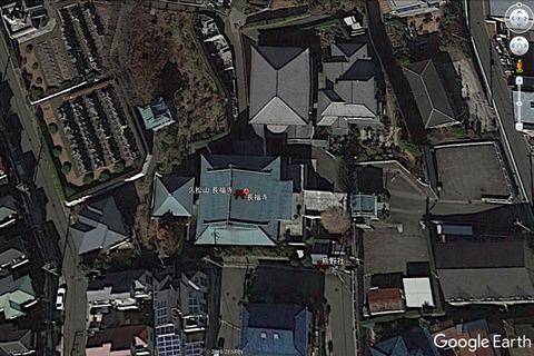 長福寺本堂と現代の熊野社配置 久良岐のよし