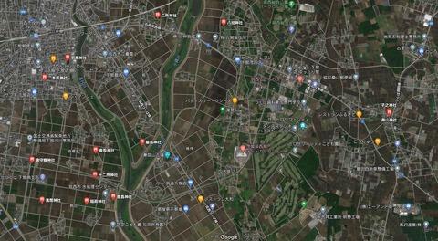 茨城県筑西市深見 グーグル