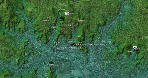 旧赤井村小名位置関係 久良岐のよし