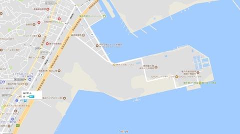新磯子周辺 東京ガス前バス停位置 久良岐のよし