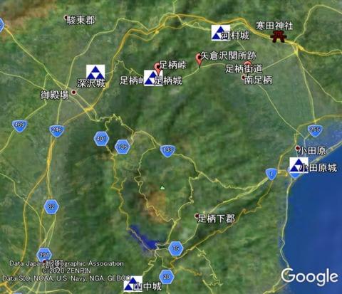 小田原城防衛網