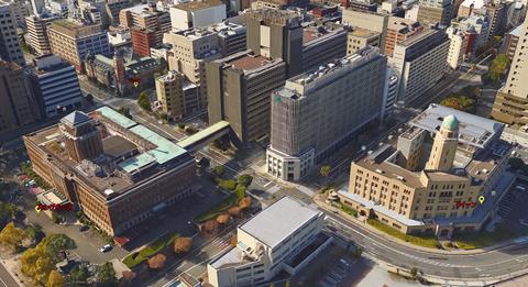 横浜山下地区:3塔位置関係