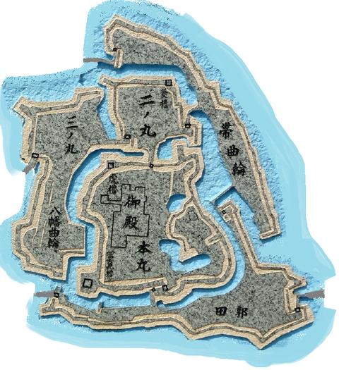 河越城縄張り図