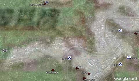 小机城包囲と城址の位置 久良岐のよし