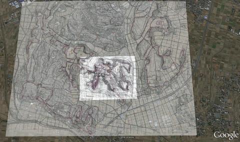 岡崎城縄張り全体像