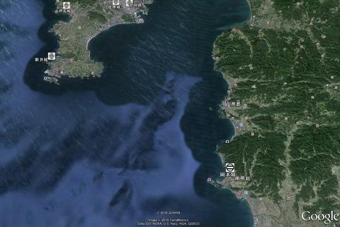 新井城と房総の位置関係