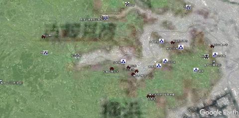 亀甲山推定範囲と城址の位置 久良岐のよし