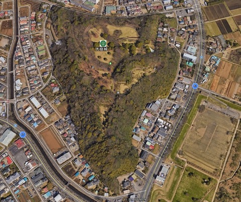 大庭城址公園Google衛星写真